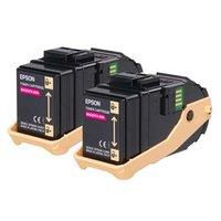 Epson originální toner C13S050607, magenta, 15000str., Epson Aculaser C9300N, Dual pack