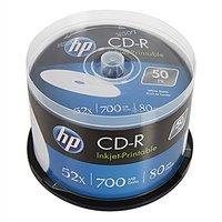HP CD-R, CRE00017WIP-3, 50-pack, 700MB, 52x, 80min., 12cm, Printable, cake box, Standard, pro archiv