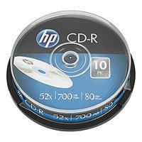 HP CD-R, CRE00019-3, 69308, 10-pack, 700MB, 52x, 80min., 12cm, bez možnosti potisku, cake box, Stand