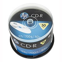 HP CD-R, CRE00017-3, 69307, 50-pack, 700MB, 52x, 80min., 12cm, bez možnosti potisku, cake box, Stand