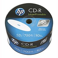 HP CD-R, CRE00070WIP-3, 69301, 50-pack, 700MB, 52x, 80min., 12cm, Printable, bulk, Standard, pro arc