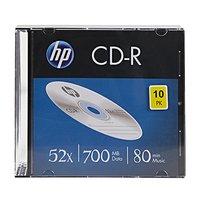 HP CD-R, CRE00085-3, 69310, 10-pack, 700MB, 52x, 80min., 12cm, bez možnosti potisku, slim case, Stan