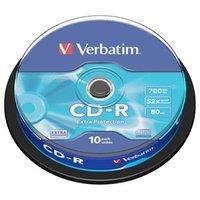 Verbatim CD-R, 43437, DataLife, 10-pack, 700MB, Extra Protection, 52x, 80min., 12cm, bez možnosti po