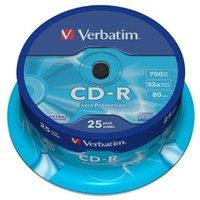 Verbatim CD-R, 43432, DataLife, 25-pack, 700MB, Extra Protection, 52x, 80min., 12cm, bez možnosti po