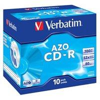 Verbatim CD-R, 43327, DataLife PLUS, 10-pack, 700MB, Super Azo, 52x, 80min., 12cm, Crystal, bez možn