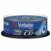 Verbatim CD-R, 43352, DataLife PLUS, 25-pack, 700MB, Super Azo, 52x, 80min., 12cm, Crystal, bez možn