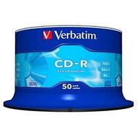 Verbatim CD-R, 43351, DataLife, 50-pack, 700MB, Extra Protection, 52x, 80min., 12cm, bez možnosti po