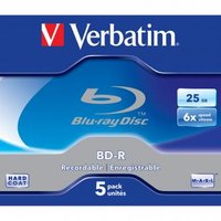 Verbatim BD-R, Single Layer 25GB, jewel box, 43715, 6x, 5-pack, pro archivaci dat