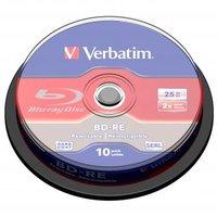 Verbatim BD-RE, Single Layer ScratchGuard Plus, 25GB, cake box, 43694, 2x, 10-pack, pro archivaci da