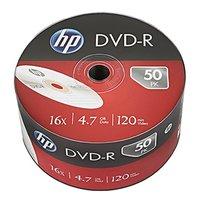 HP DVD-R, DME00070-3, 50-pack, 4.7GB, 16x, 12cm, bulk, bez možnosti potisku, pro archivaci dat