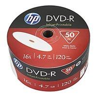 HP DVD-R, DME00070WIP-3, 69302, 50-pack, 4.7GB, 16x, 12cm, bulk, Printable, pro archivaci dat