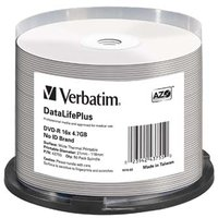 Verbatim DVD-R, 43755, DataLife PLUS, 50-pack, 4.7GB, 16x, 12cm, Professional, Advanced Azo+, cake b