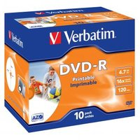 Verbatim DVD-R, 43521, DataLife PLUS, 10-pack, 4.7GB, 16x, 12cm, General, Advanced Azo+, jewel box,