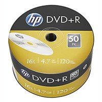 HP DVD+R, DRE00070-3, 69305, 50-pack, 4.7GB, 16x, 12cm, bulk, bez možnosti potisku, pro achivaci dat