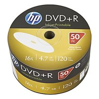HP DVD+R, DRE00070WIP-3, 50-pack, 4.7GB, 16x, 12cm, bulk, Printable, pro archivaci dat