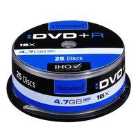 Intenso DVD+R, 4111154, 25-pack, 4.7GB, 16x, 12cm, Standard, cake box, bez možnosti potisku, pro arc