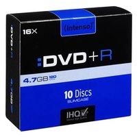 Intenso DVD+R, 4111652, 10-pack, 4.7GB, 16x, 12cm, slim case, pro archivaci dat