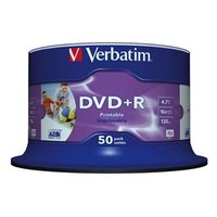 Verbatim DVD+R, 43512, DataLife PLUS, 50-pack, 4.7GB, 16x, 12cm, Professional, Advanced Azo+, cake b