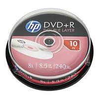HP DVD+R, DRE00060-3, 69309, 10-pack, 8.5GB, 8x, 12cm, cake box, Dual Layer, bez možnosti potisku, p