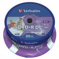 Verbatim DVD+R, 43667, DataLife PLUS, 25-pack, 8.5GB, 8x, 12cm, General, Double Layer, cake box, Wid