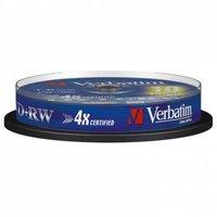 Verbatim DVD+RW, 43488, DataLife PLUS, 10-pack, 4.7GB, 2-4x, 12cm, General, Standard, cake box, Scra