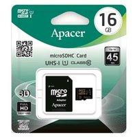 Apacer paměťová karta Secure Digital, 16GB, micro SDHC, AP16GMCSH10U1-R, UHS-I U1 (Class 10), s adap