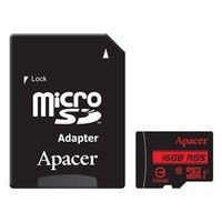 Apacer paměťová karta Secure Digital, 16GB, micro SDHC, AP16GMCSH10U5-R, UHS-I U1 (Class 10), s adap