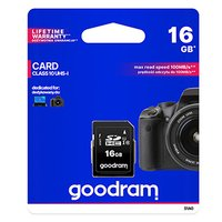Goodram Secure Digital Card, 16GB, SDHC, S1A0-0160R11, UHS-I U1 (Class 10)