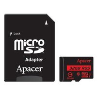 Apacer paměťová karta Secure Digital, 32GB, micro SDHC, AP32GMCSH10U5-R, UHS-I U1 (Class 10), s adap