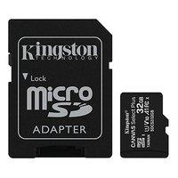 Kingston paměťová karta Canvas Select Plus, 32GB, micro SDHC, SDCS2/32GB, UHS-I U1 (Class 10), s ada