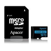 Apacer paměťová karta Secure Digital, 64GB, micro SDXC, AP64GMCSX10U7-R, UHS-I U3, V30, s adaptérem