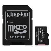 Kingston paměťová karta Canvas Select Plus, 64GB, micro SDXC, SDCS2/64GB, UHS-I U1 (Class 10), s ada