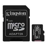 Kingston paměťová karta Canvas Select Plus, 256GB, micro SDXC, SDCS2/256GB, UHS-I U1 (Class 10), s a