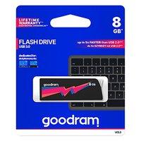 Goodram USB flash disk, 3.0, 8GB, UCL3, černý, UCL3-0080K0R11, podpora OS Win 7, nové papírové balen