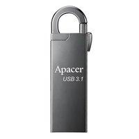 Apacer USB flash disk, USB 3.0 (3.2 Gen 1), 16GB, AH15A, stříbrný, AP16GAH15AA-1, USB A, s karabinko