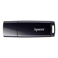 Apacer USB flash disk, 2.0, 16GB, AH336, černý, černá, AP16GAH336B-1, s krytkou