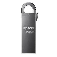 Apacer USB flash disk, USB 3.0 (3.2 Gen 1), 32GB, AH15A, stříbrný, AP32GAH15AA-1, USB A, s karabinko