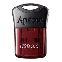 Apacer USB flash disk, 3.0, 32GB, AH157, černá, červená, AP32GAH157R-1, s krytkou