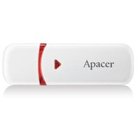 Apacer USB flash disk, 2.0, 32GB, AH333, bílý, červený, AP32GAH333W-1, s krytkou