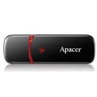 Apacer USB flash disk, 2.0, 32GB, AH333, černý, červený, AP32GAH333B-1, s krytkou