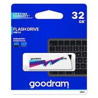Goodram USB flash disk, USB 2.0, 32GB, UCL2, bílý, UCL2-0320W0R11, USB A, vysouvací konektor