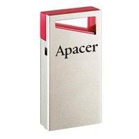 Apacer USB flash disk, 2.0, 64GB, AH112, stříbrný, červený, AP64GAH112R-1