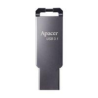 Apacer USB flash disk, USB 3.0 (3.2 Gen 1), 64GB, AH360, stříbrný, AP64GAH360A-1, s poutkem