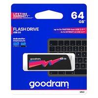 Goodram USB flash disk, 3.0, 64GB, UCL3, černý, UCL3-0640K0R11, podpora OS Win 7, nové papírové bale