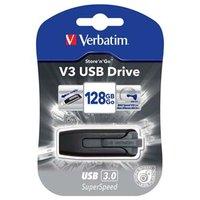 Verbatim USB flash disk, 3.0, 128GB, Store ,n, Go V3, černý, 49189