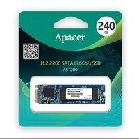 Interní disk SSD Apacer M.2 SATA III, 240GB, AST280, AP240GAST280-1 černý, 495 MB/s,520 MB/s