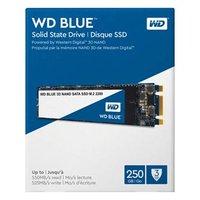 SSD Western Digital M.2 SATA III, M.2 SATA III, 250GB, GB, WD Blue 3D NAND, WDS250G2B0B 525 MB/s,550