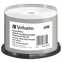 Verbatim DVD-R, 43734, Waterproof, 50-pack, 4.7GB, 16x, 12cm, General, Standard, cake box, Wide Prin