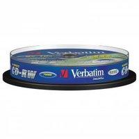 Verbatim CD-RW, 43480, DataLife PLUS, 10-pack, 700MB, Advanced Serl, 8-12x, 80min., 12cm, Scratch Re