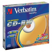 Verbatim CD-RW, 43167, DataLife PLUS, 5-pack, 700MB, Serl, 8-12x, 80min., 12cm, Color, bez možnosti